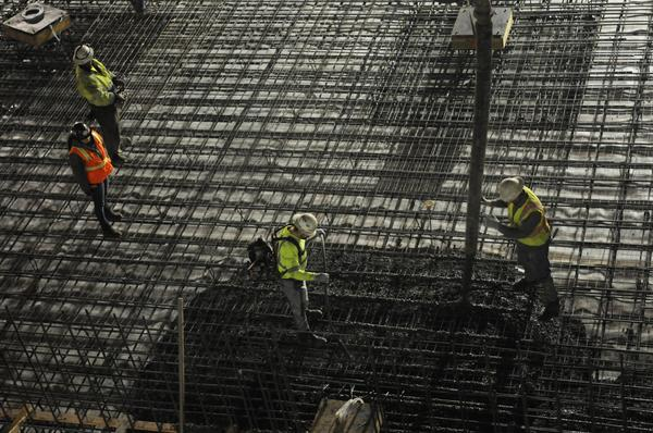 Concrete pours getting underway for arena project